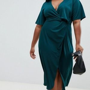 Asos Curve twist front midi dress